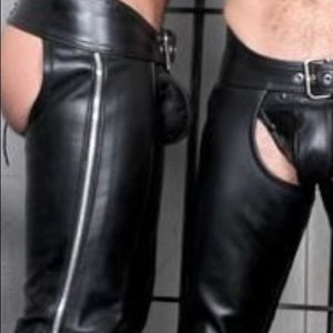 Leather Wear black chaps